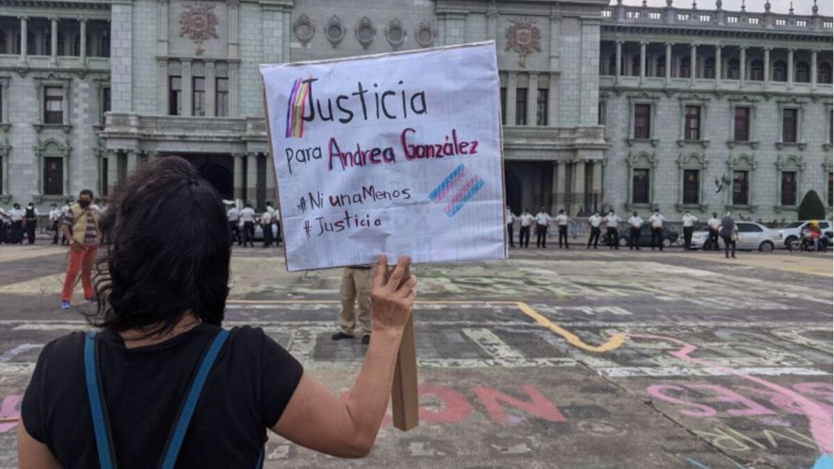 Andrea González fue asesinada la noche del viernes en un ataque armado en el norte del centro histórico de Ciudad de Guatemala.
