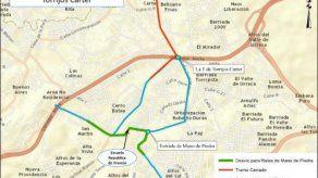 Anuncian desvíos en las rutas de Metro Bus de Torrijos Carter y Mano de Piedra este domingo