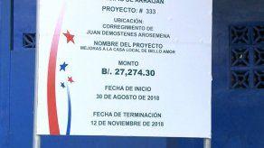 Representante de Arraiján dice que halló proyectos inconclusos y manejo irregular de fondos