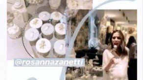 La espectacular baby shower de Rosanna Zanetti