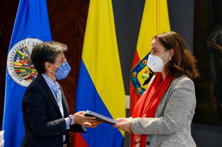 La delegación de la CIDH también se reunió en Bogotá con la vicepresidenta y canciller