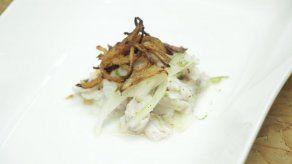 Ceviche con cebollas fritas - Gabriel
