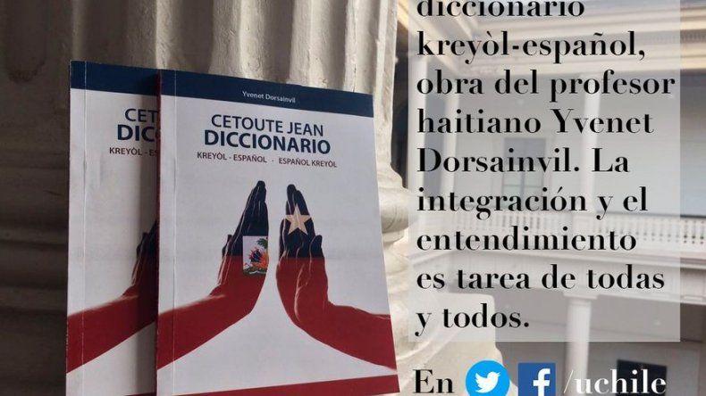 Profesor haitiano presenta en Chile primer diccionario Kreyol-español
