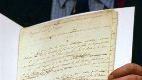 Subastan copia del testamento de Napoleón