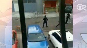 Iniciarán investigación a unidad policial que fue captada pateando a un can en San Miguel