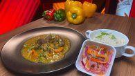 Receta: Curry al cordero con arroz y encurtido
