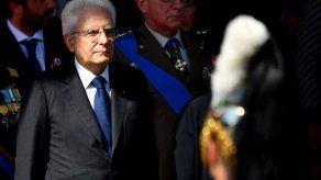 Presidente italiano Mattarella advierte sobre el presupuesto
