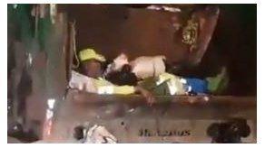 AAUD identifica camión en el que un trabajador iba acostado en la parte trasera