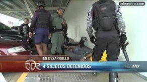 Policía detiene a cuatro sujetos en movimientos sospechosos