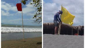 Colocan bandera roja y amarilla en algunas playas del país por fuertes oleajes