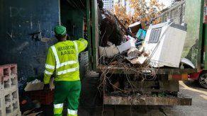 Realizan operativo de limpieza y recolección de enseres en San Francisco