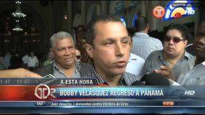 Apareció Bobby Velásquez
