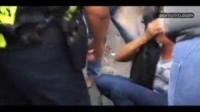 Metro Bus golpea a mujer en el brazo