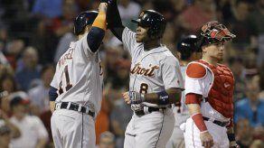 Tigres evitan barrida ante Boston con un grand slam de Upton