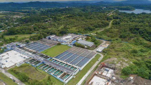 Vista aérea de la Planta Potabilizadora Federico Guardia Conte de Chilibre.