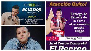 """Nigga será galardonado con la """"Estrella de La Fama"""" en Ecuador"""