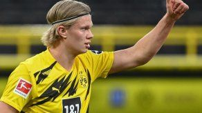 Haaland vuelve a entrenar antes de la final de Copa Alemana
