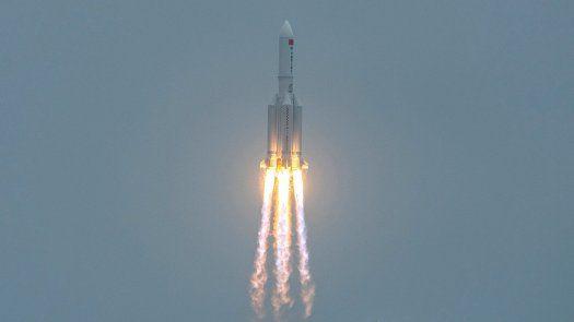 El cohete (un Long March 5B) fue utilizado la pasada semana por China para lanzar al espacio uno de los módulos de su futura estación espacial.