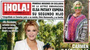 El embarazo de Elsa Pataky y Letizia en USA