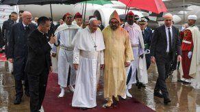 El papa Francisco llegó a Marruecos para una visita de dos días
