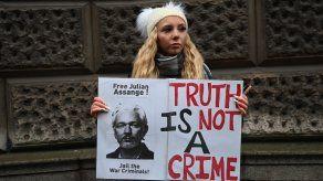 Assange, de 49 años, está recluido en una cárcel cerca de Londres.