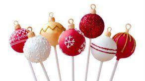 Cake pops navideños de red velvet