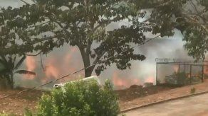 Se registra incendio forestal en Las Cumbres