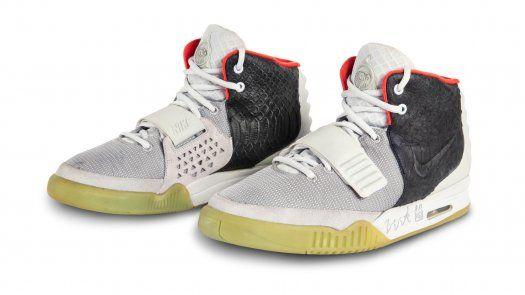 Zapatillas Nike Air Yeezy 1 que llevó el rapero Kanye West.