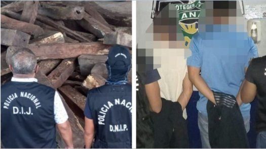 Los aprehendidos y la madera fueron puestos a órdenes de las autoridades competentes.
