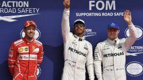 Hamilton logra pole en Bélgica y empata récord de Schumacher