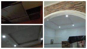 Renovando espacios: De cielo raso suspendido a techo de gypsum
