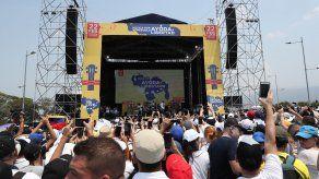 Participación de cantantes y actores en el concierto Venezuela Aid Live