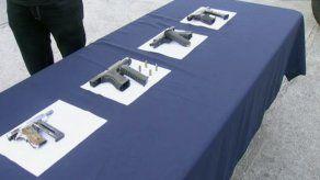 Armas de fuego decomisadas en San Miguelito durante Navidad