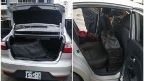 Autoridades decomisan auto abandonado en Marbella con dos sacos de presunta droga