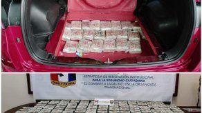 Senafront incauta más de B/. 400 mil en auto con doble fondo en puesto de control de Paso Canoas