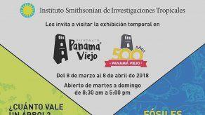 Exhibición de fósiles y biodiversidad hasta el 8 de abril en Panamá Viejo