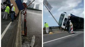 Grúa sufre incidente en el Corredor Sur y genera tranque vehicular