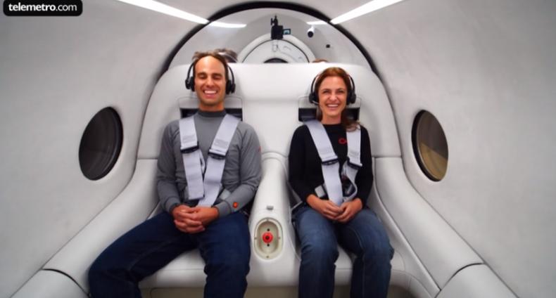 Virgin Hyperloop realiza primera prueba con pasajeros de su tren ultrarrápido