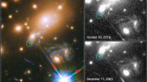 El telescopio Hubble obtiene la primera imagen de explosión estelar prevista