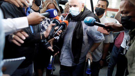 El expresidente de la República, Ricardo Martinelli, a su llegada al SPA.