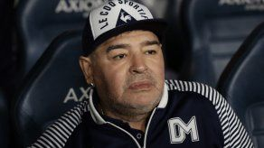 El exastro del fútbol argentino Diego Maradona.