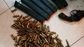 Decomisan armas de fuego