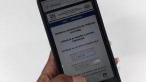 Electorado podrá verificar sus centros y mesas de votación desde el teléfono celular