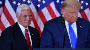 Trump y Pence señalan un frente común en una reunión la Casa Blanca