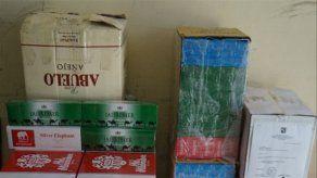 Decomisan cigarrillos y licores tras un operativo en la provincia de Colón