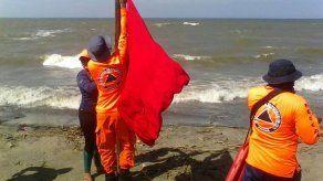 Bandera roja en playas de Panamá Oeste