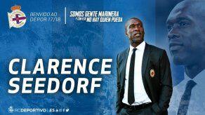 Deportivo La Coruña contrata a Seedorf como su técnico
