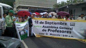 Docentes universitarios protestan en la AN