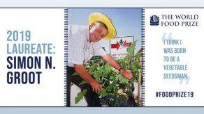 Productor de semillas de verduras gana premio de alimentos