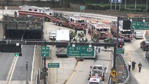 32 heridos al chocar autobuses en túnel de Nueva York